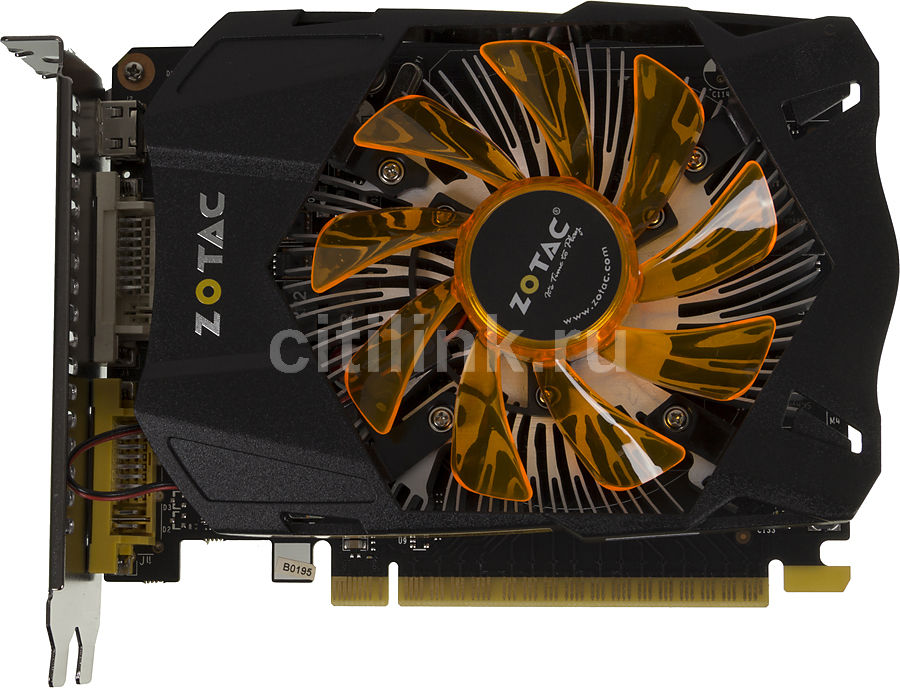 Видеокарта ZOTAC GeForce GTX 750Ti,  1Гб, GDDR5, Ret [zt-70603-10m]