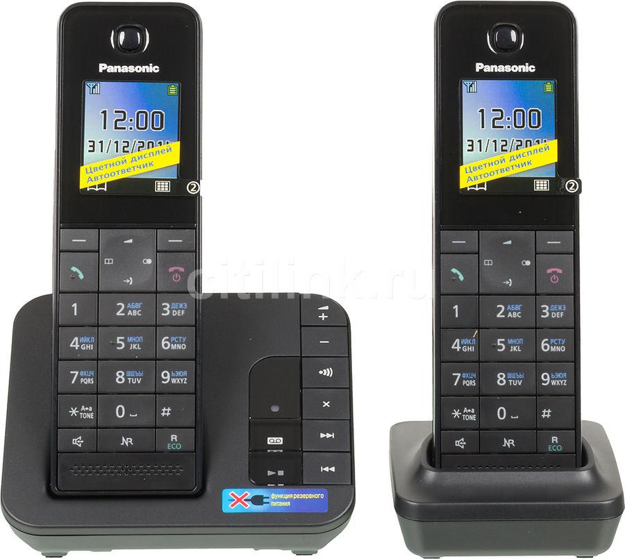 Радиотелефон PANASONIC KX-TGH222RUB,  черный