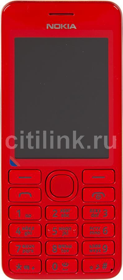 Мобильный телефон NOKIA 206 красный