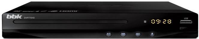 DVD-плеер BBK DVP770HD,  черный,  диск 500 песен [(dvd) player dvp770hd+д500 чер]