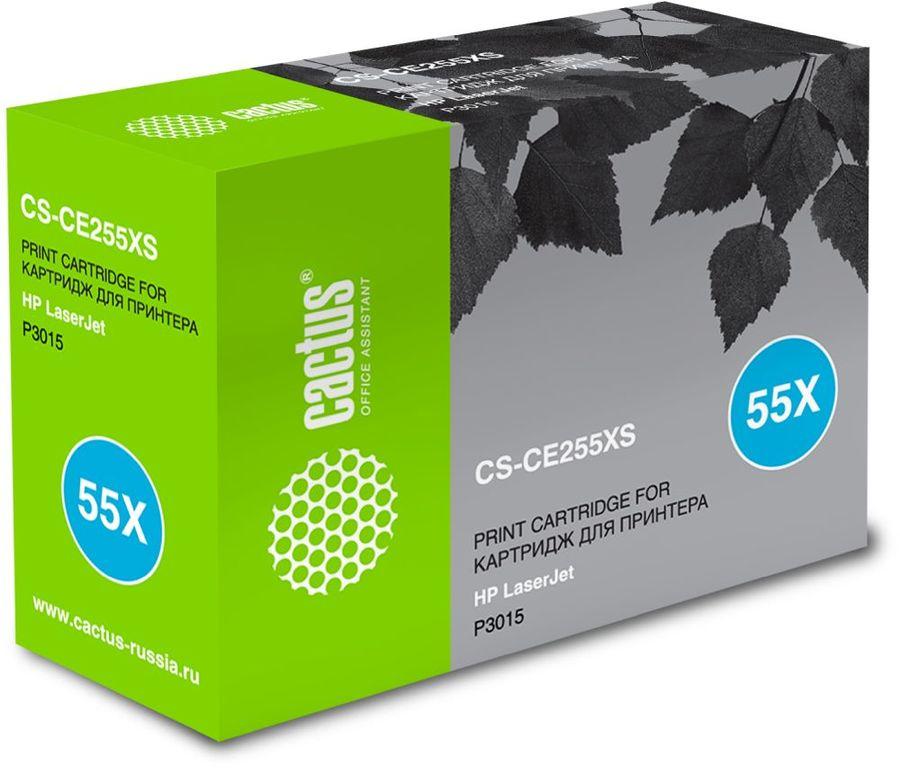 Картридж CACTUS CS-CE255XS черный