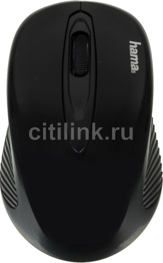 Мышь HAMA AM-7300 оптическая беспроводная USB, черный [00086537]