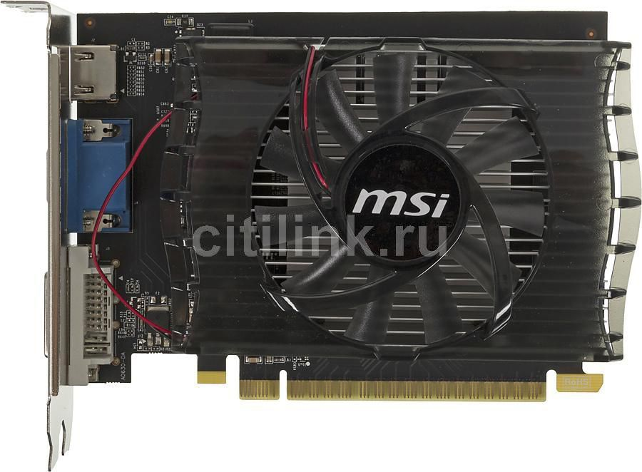Видеокарта MSI GeForce GT 730,  N730-2GD3,  2Гб, DDR3, Ret