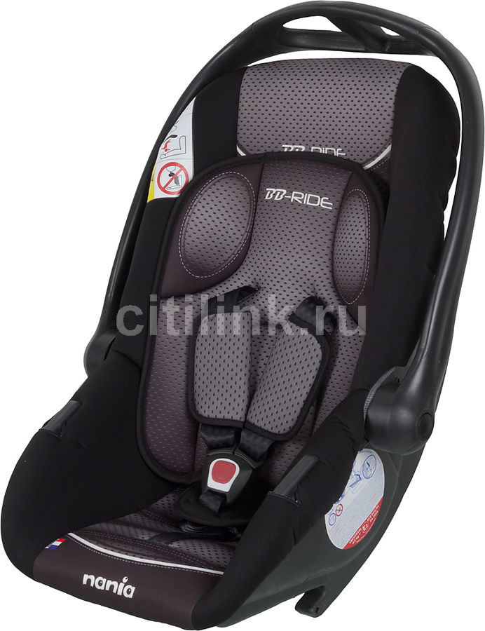 Автокресло детское NANIA Baby Ride FST (graphic black), 0/0+, серый/черный [373076]