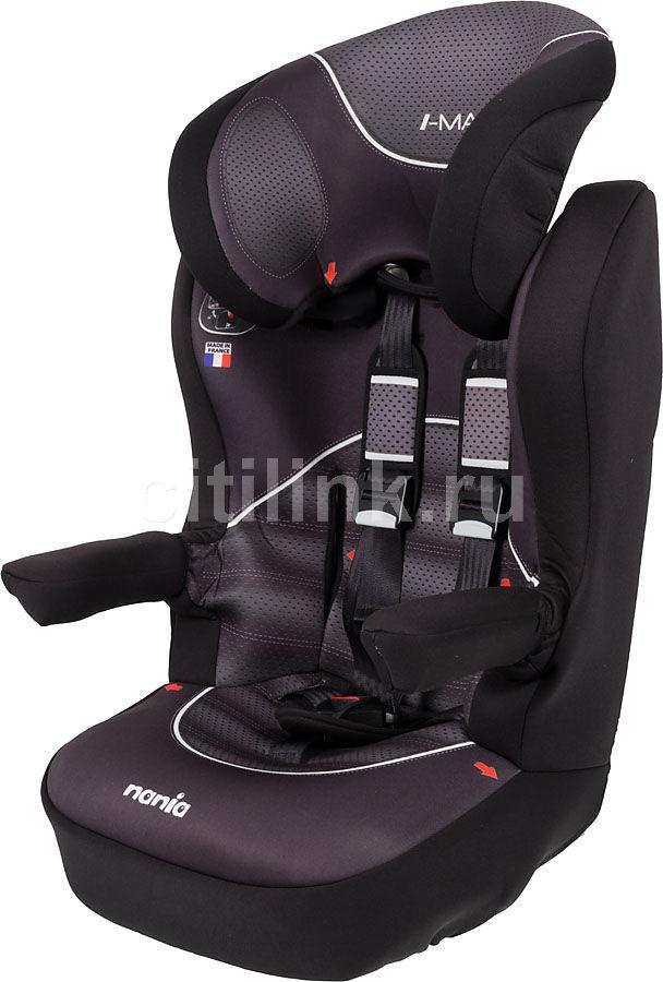 Автокресло детское NANIA IMax SP (graphic black), 1/2/3, черный/серый [903076]