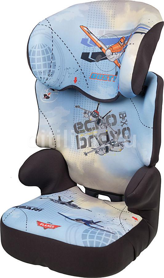 Автокресло детское NANIA Disney Befix SP (planes), 2/3, голубой/серый [743182]