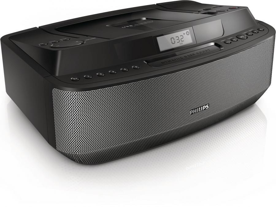 Аудиомагнитола PHILIPS AZ-420/12,  черный