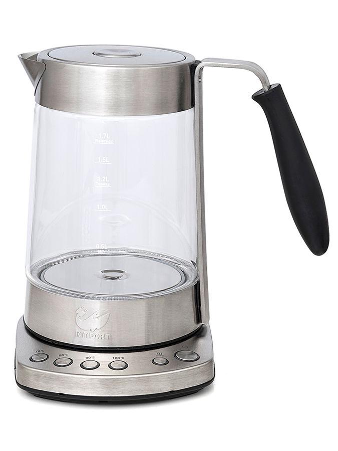Чайник электрический KITFORT КТ-601, 2500Вт, серебристый