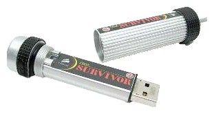 Флешка USB CORSAIR Survivor 8Гб, USB2.0, серый и черный [cmfusbsrvr-8gb]