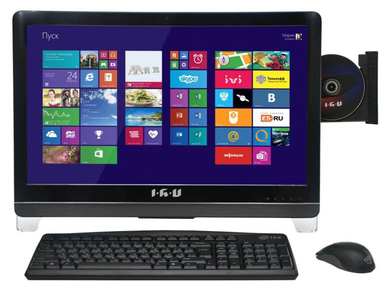 Моноблок IRU 116 Bing, Intel Celeron G1620, 2Гб, 500Гб, Intel HD Graphics, DVD-RW, Windows 8.1, черный