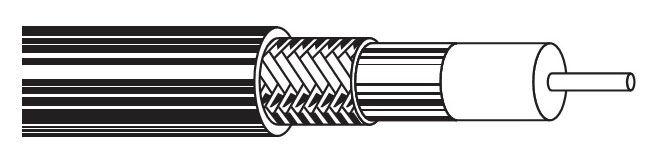 Кабель коакс. Belden (9116E.00305) RG-6 SF/UTP 18AWG 75Om PVC универс. 305м черн.