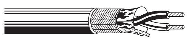 Кабель информ. Belden (9842.00305) RS-485 SF/UTP 2X2X24AWG PVC универс. 305м хром