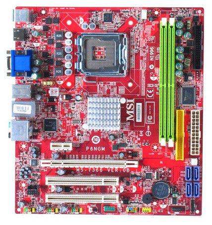 Материнская плата MSI P6NGM-FIH LGA 775, mATX, Ret