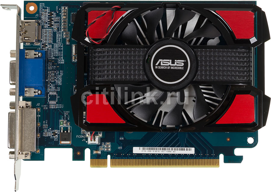 Видеокарта ASUS GeForce GT 730,  GT730-2GD3,  2Гб, DDR3, Ret