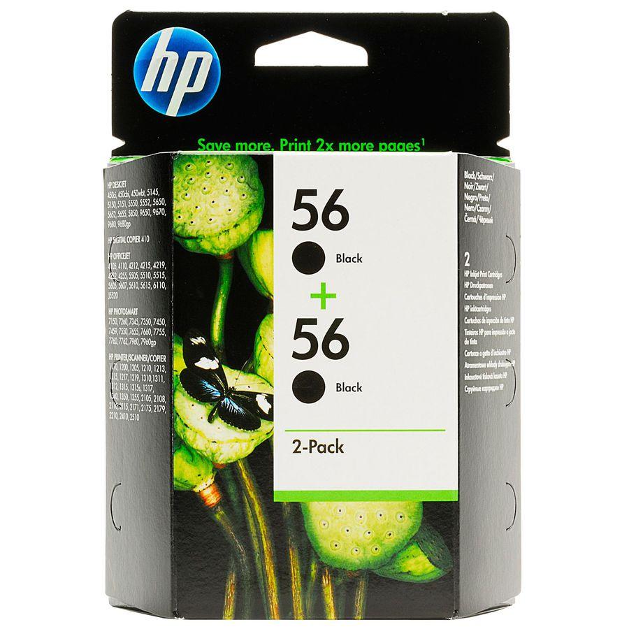 двойная упаковка картриджей HP C9502AE черный [c9502ae/bl]