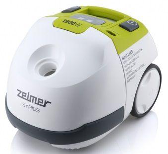 Пылесос ZELMER ZVC412KQRU, 1900Вт, белый/зеленый