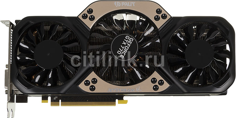 Видеокарта PALIT GeForce GTX 770 JETSTREAM V1,  NE5X770S1042-1045J,  2Гб, GDDR5, Ret