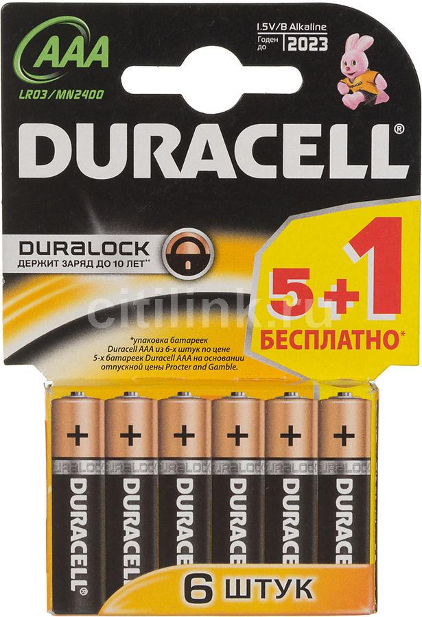 Батарея DURACELL Basic LR03-6BL,  6 шт. AAA