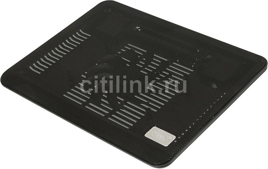 """Подставка для ноутбука Deepcool N17 (N17BLACK) 14""""330x250x25мм 21дБ 1xUSB 1x 140ммFAN 465г черный"""