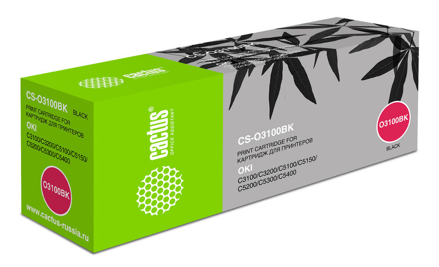 Картридж CACTUS CS-O3100BK черный 4 pack high quality toner cartridge for oki c5100 c5150 c5200 c5300 c5400 printer compatible 42804508 42804507 42804506 42804505