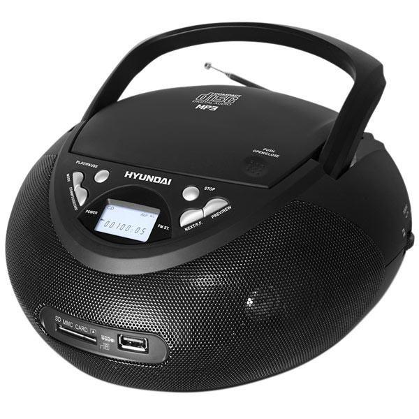 Аудиомагнитола HYUNDAI H-1448U,  черный