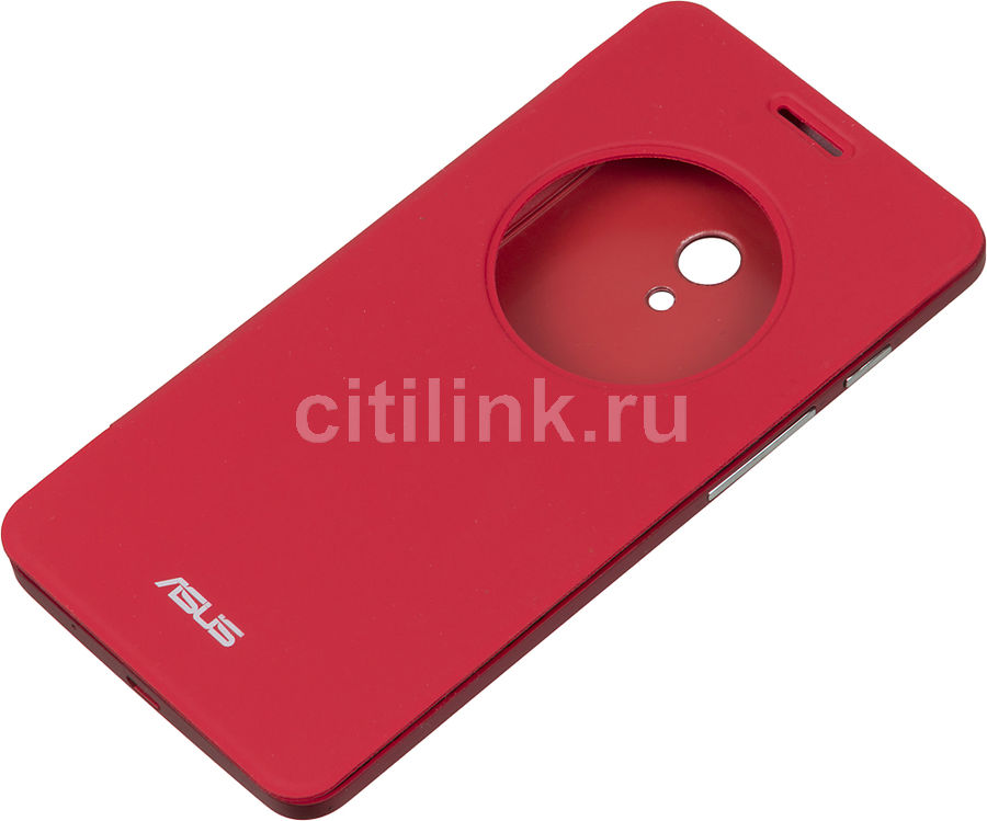Чехол (флип-кейс) ASUS View Flip Cover, для Asus ZenFone 5 (A500CG/A501CG) ZenFone 5 LTE (A500KL), красный [90xb00ra-bsl1y0]