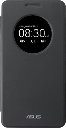 Чехол (флип-кейс) ASUS View Flip Cover, для Asus ZenFone 6 A600CG, черный [90xb00ra-bsl0n0]