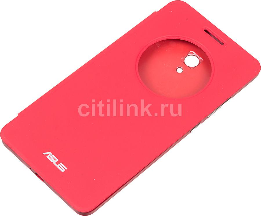 Чехол (флип-кейс) ASUS View Flip Cover, для Asus ZenFone 6 A600CG, красный [90xb00ra-bsl0q0]