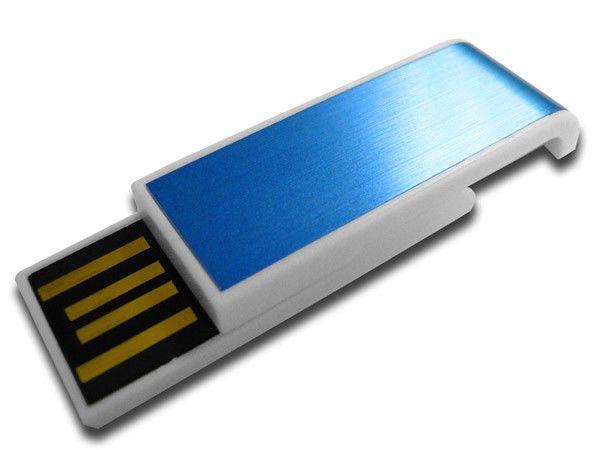 Флешка USB DIGMA Slyd 4Гб, USB2.0, голубой и белый