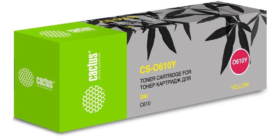 Картридж CACTUS CS-O610Y желтый