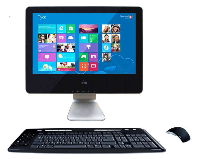 Моноблок IRU 115Bing, Intel Celeron 1037U, 2Гб, 500Гб, Intel HD Graphics, DVD-RW, Windows 8.1, черный [943965]