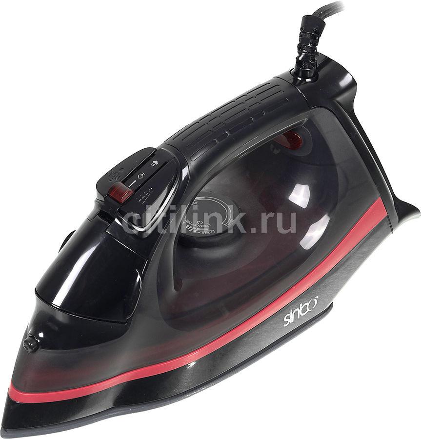 Утюг SINBO SSI 2872,  2000Вт,  черный/ красный