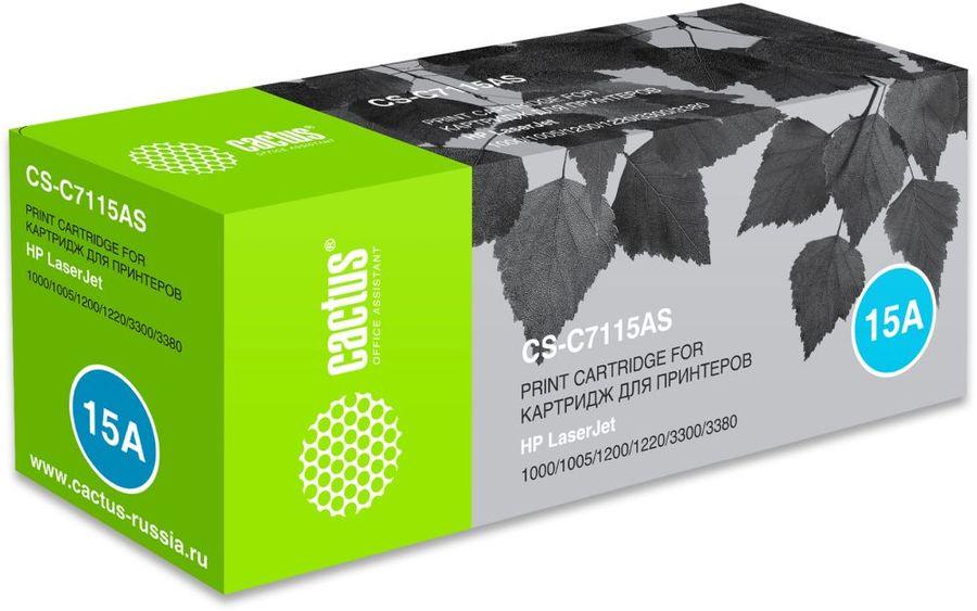 Тонер Картридж Cactus CS-C7115AS черный для для принтеров HP LaserJet 1000/ 1005/ (плохая упаковка)