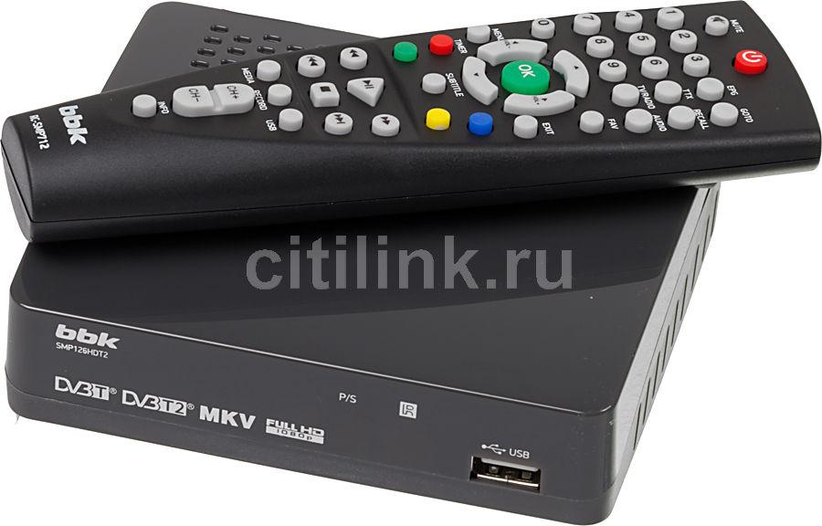 Ресивер DVB-T2 BBK SMP126HDT2,  темно-серый