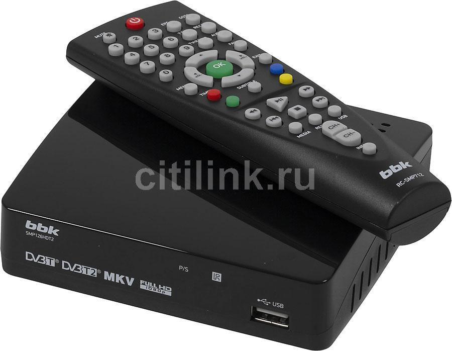 Ресивер DVB-T2 BBK SMP126HDT2,  черный