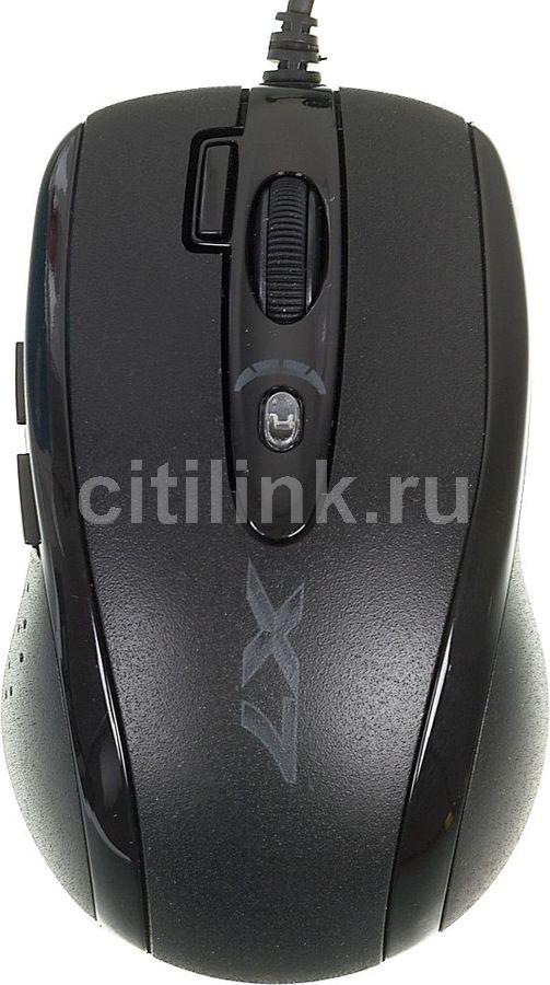 Мышь A4 X-710MK, игровая, оптическая, проводная, USB, черный [x-710mk usb]
