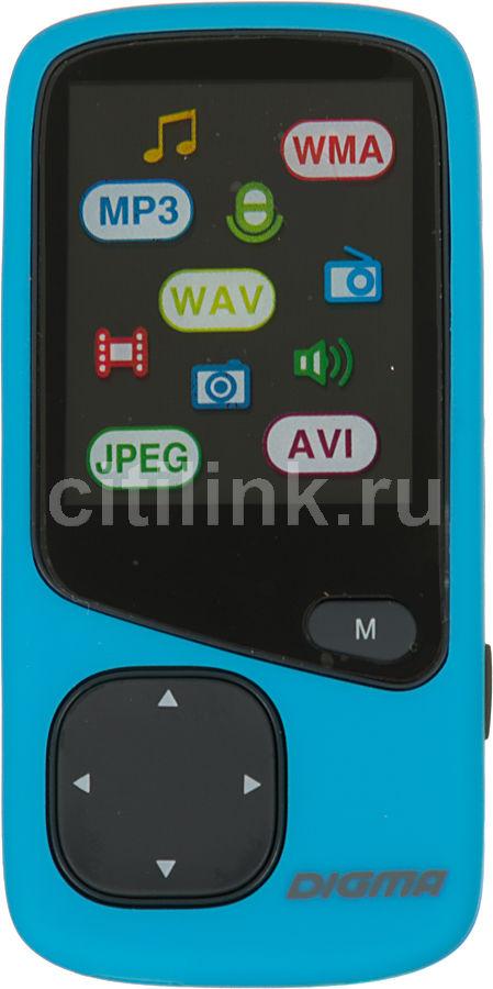 MP3 плеер DIGMA Cyber 1 flash 8Гб голубой