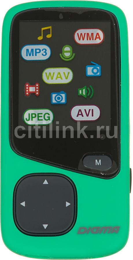 MP3 плеер DIGMA Cyber 1 flash 8Гб зеленый