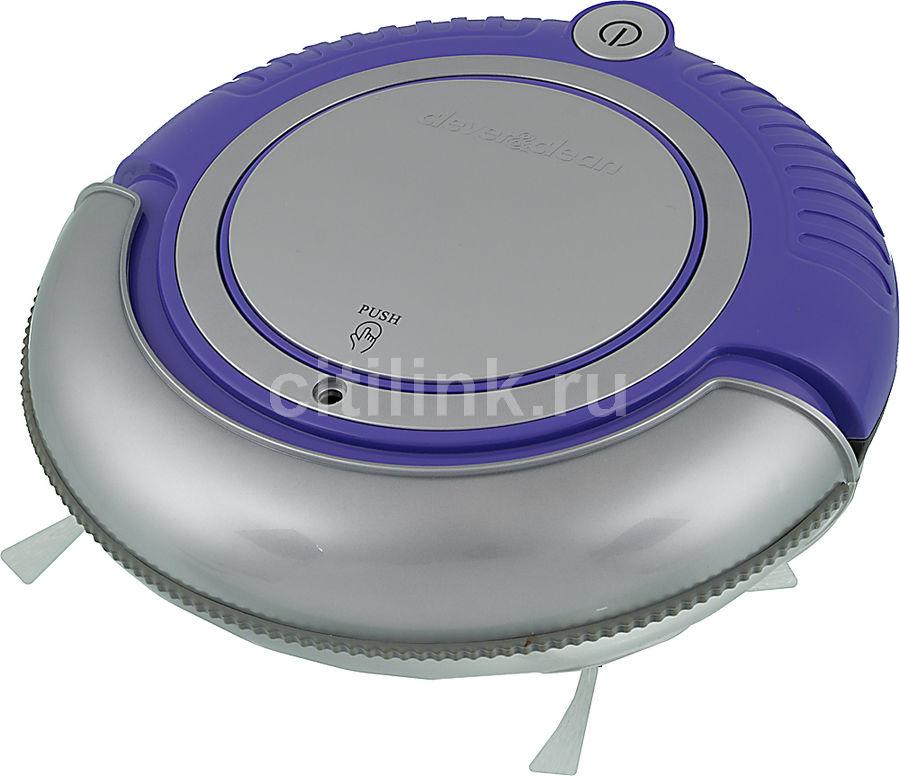 Робот-пылесос CLEVER&CLEAN M-Series 002, фиолетовый/серебристый