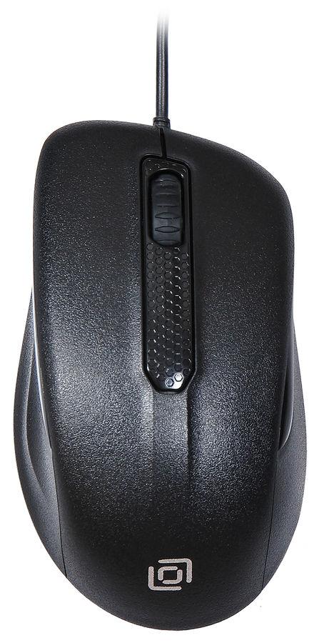 Мышь OKLICK 175M, оптическая, проводная, USB, черный [mw-1323]