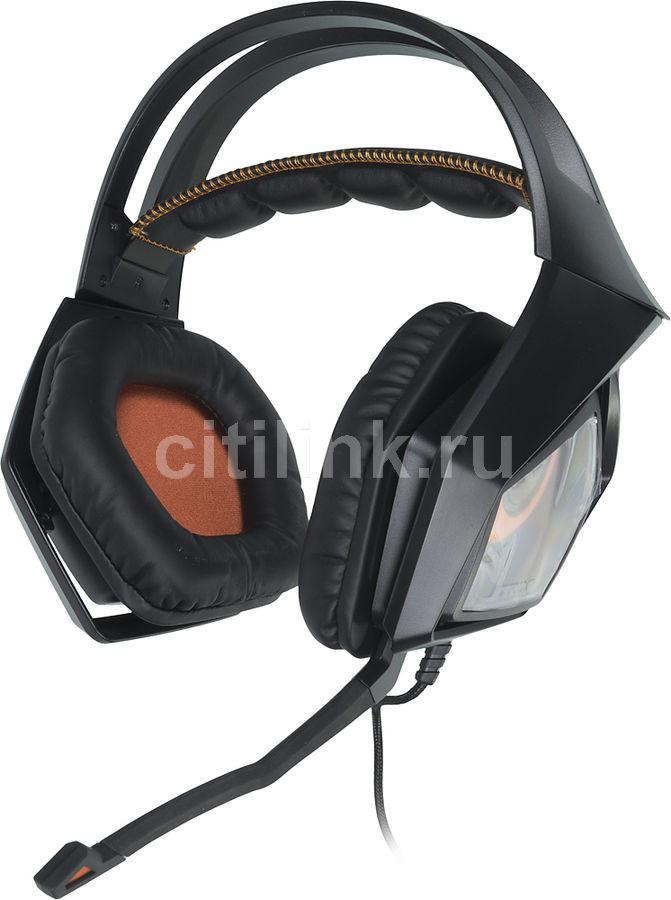 Наушники с микрофоном ASUS Strix Pro,  мониторы, черный  / красный [90yh00b1-m8ua00]