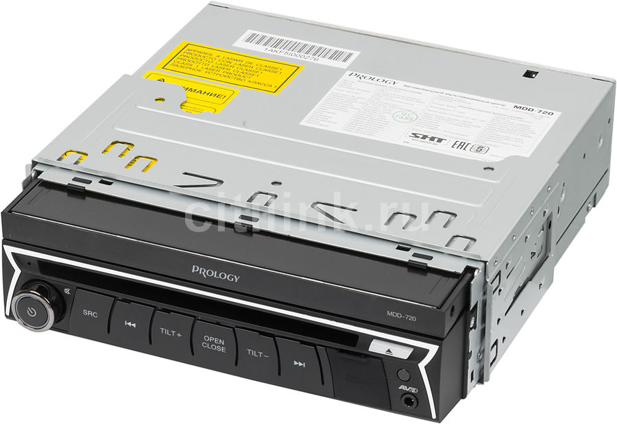 Автомагнитола PROLOGY MDD-720, USB, SD/MMCАвтомагнитолы<br>типоразмер: 1 din, CD, DVD, MPEG4, диагональ экрана: 7, Bluetooth, поддержка iPod,   USB-порт: фронтальный, основной тип карт памяти: SD/MMC<br><br>Цвет: черный