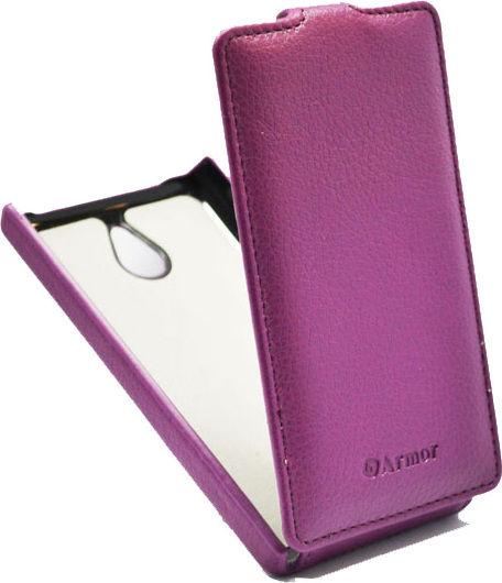 Чехол (флип-кейс) ARMOR-X flip full, для Nokia X dual sim, пурпурный