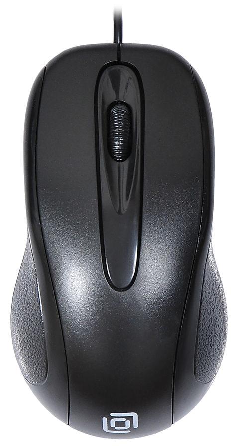 Мышь OKLICK 205M, оптическая, проводная, USB, черный [m203]