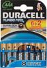 Батарея DURACELL Turbo MAX LR03-8BL,  8 шт. AAA вид 1