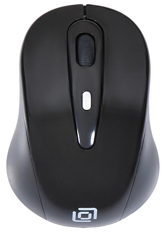Мышь OKLICK 435MW, оптическая, беспроводная, USB, черный
