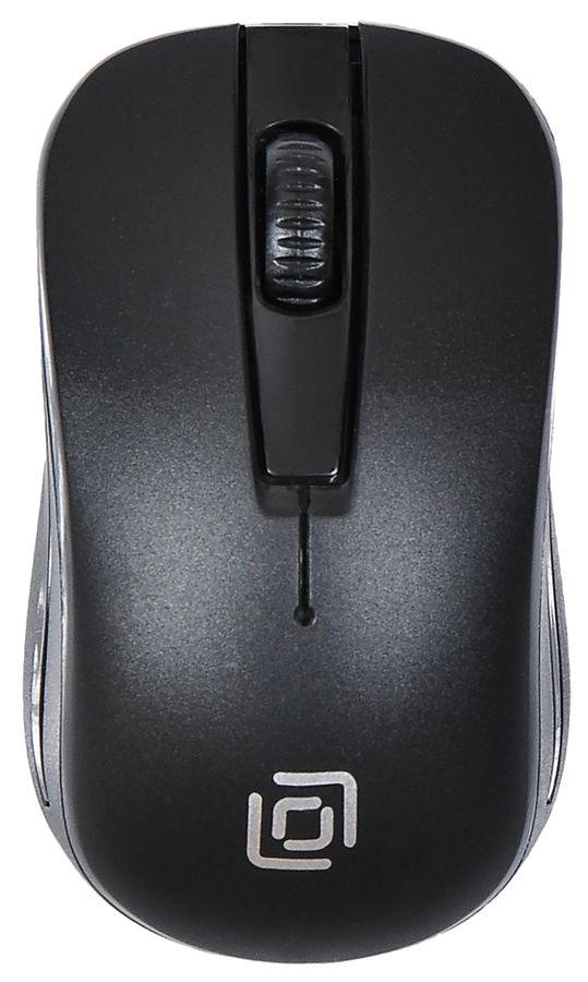 Мышь OKLICK 445MW, оптическая, беспроводная, USB, черный [tm-1000 black]
