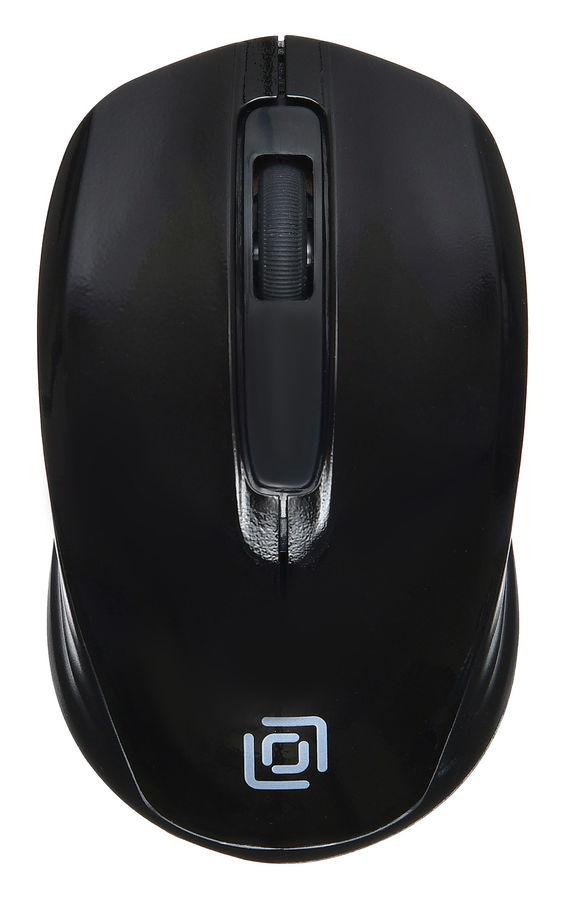 Мышь OKLICK 475MW, оптическая, беспроводная, USB, черный [tm-1500 black]
