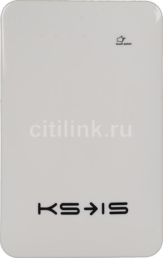 Внешний аккумулятор KS-IS KS-215,  10000мAч,  белый [ks-215white]