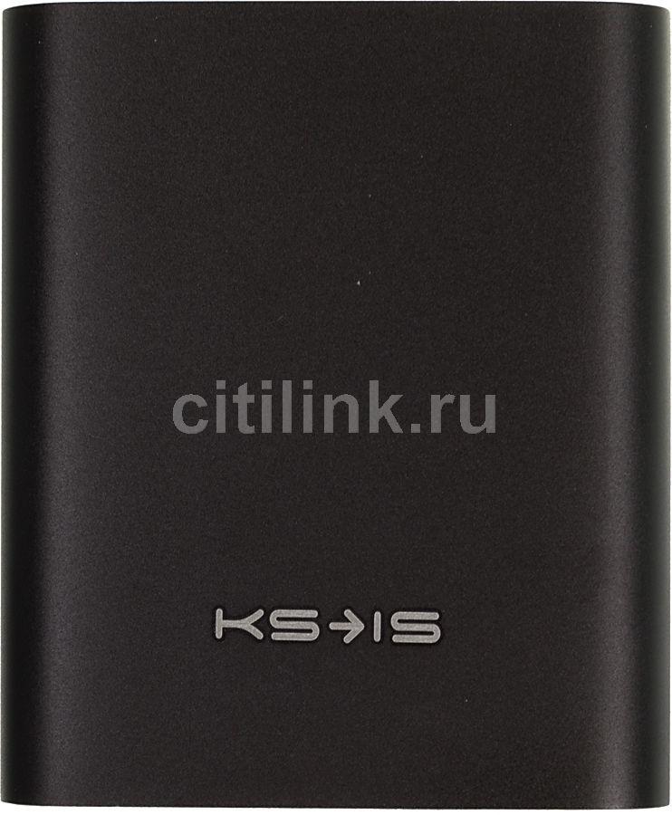 Внешний аккумулятор KS-IS KS-239,  10400мAч,  черный [ks-239black]